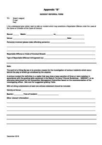 2019 AFL Hunter Central Coast Incident Referral Form - AFL